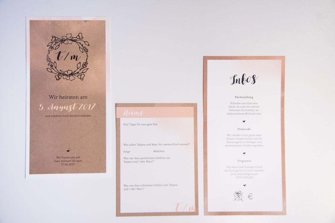 Hochzeitseinladung front Design