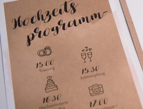 Hochzeitseinladung Programm Design