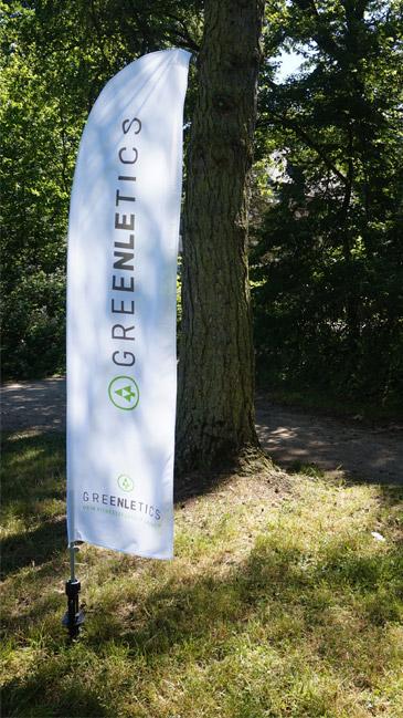 Greenletics – Fitnessstudio im Freien – Fahne