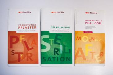 pro familia broschures covers