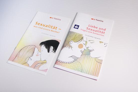 pro familia broschures covers leichte sprache
