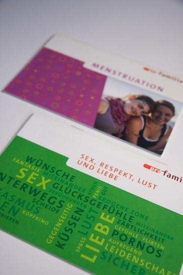 pro familia broschures covers teenager