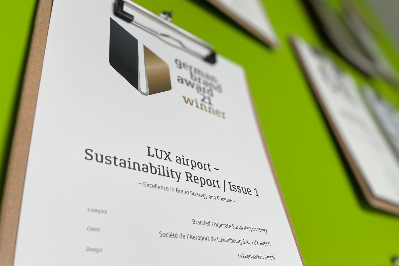 Sustainability report – German Brand Award Winner